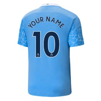 2020-2021 Manchester City Puma Home Football Shirt (Kids) (Your Name)