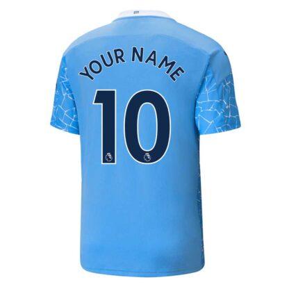 2020-2021 Manchester City Puma Home Football Shirt (Kids) (Your Name)
