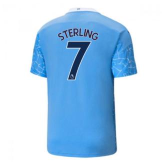 2020-2021 Manchester City Puma Home Football Shirt (STERLING 7)