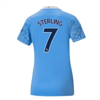 2020-2021 Manchester City Puma Home Ladies Shirt (STERLING 7)