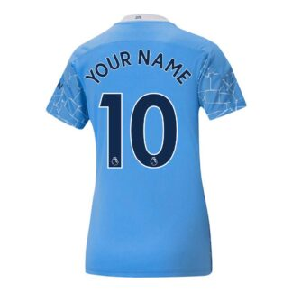 2020-2021 Manchester City Puma Home Ladies Shirt (Your Name)