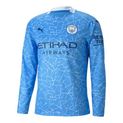 2020-2021 Manchester City Puma Home Long Sleeve Shirt