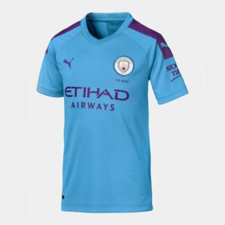 Manchester City 19/20 Kids Home S/S Replica Football Shirt