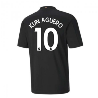 2020-2021 Manchester City Puma Away Football Shirt (KUN AGUERO 10)