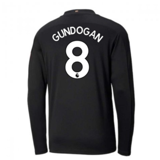 2020-2021 Manchester City Puma Away Long Sleeve Shirt (GUNDOGAN 8)