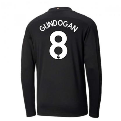 2020-2021 Manchester City Puma Away Long Sleeve Shirt (GUNDOGAN 8)