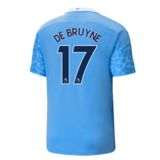 2020-2021 Manchester City Puma Home Football Shirt (DE BRUYNE 17)