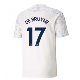 2020-2021 Manchester City Puma Third Football Shirt (DE BRUYNE 17)
