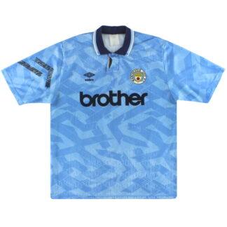 1991-93 Manchester City Umbro Home Shirt XL