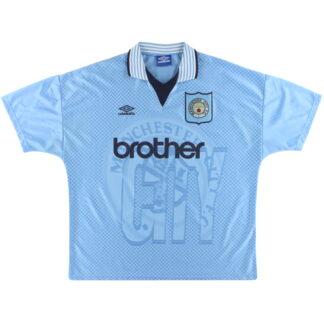 1995-97 Manchester City Umbro Home Shirt XXL