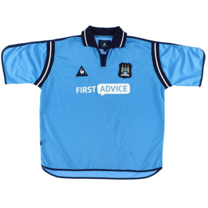 2002-03 Manchester City Le Coq Sportif Home Shirt XL