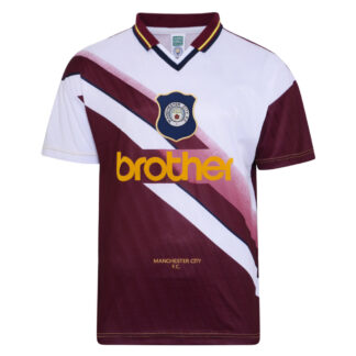 Manchester City 1996 Away Retro Football Shirt