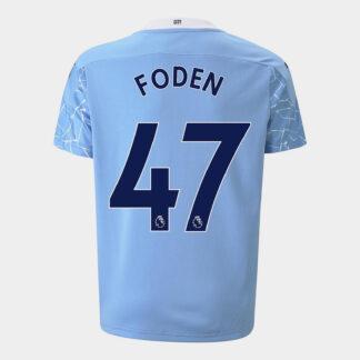 Manchester City Phil Foden Home Shirt 20/21 Kids
