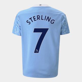 Manchester City Raheem Sterling Home Shirt 20/21 Kids