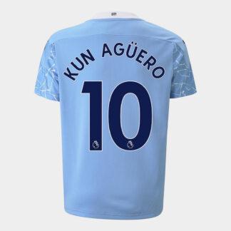 Manchester City Sergio Aguero Home Shirt 20/21 Kids