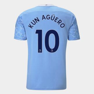 Manchester City Sergio Aguero Home Shirt 20/21 Mens